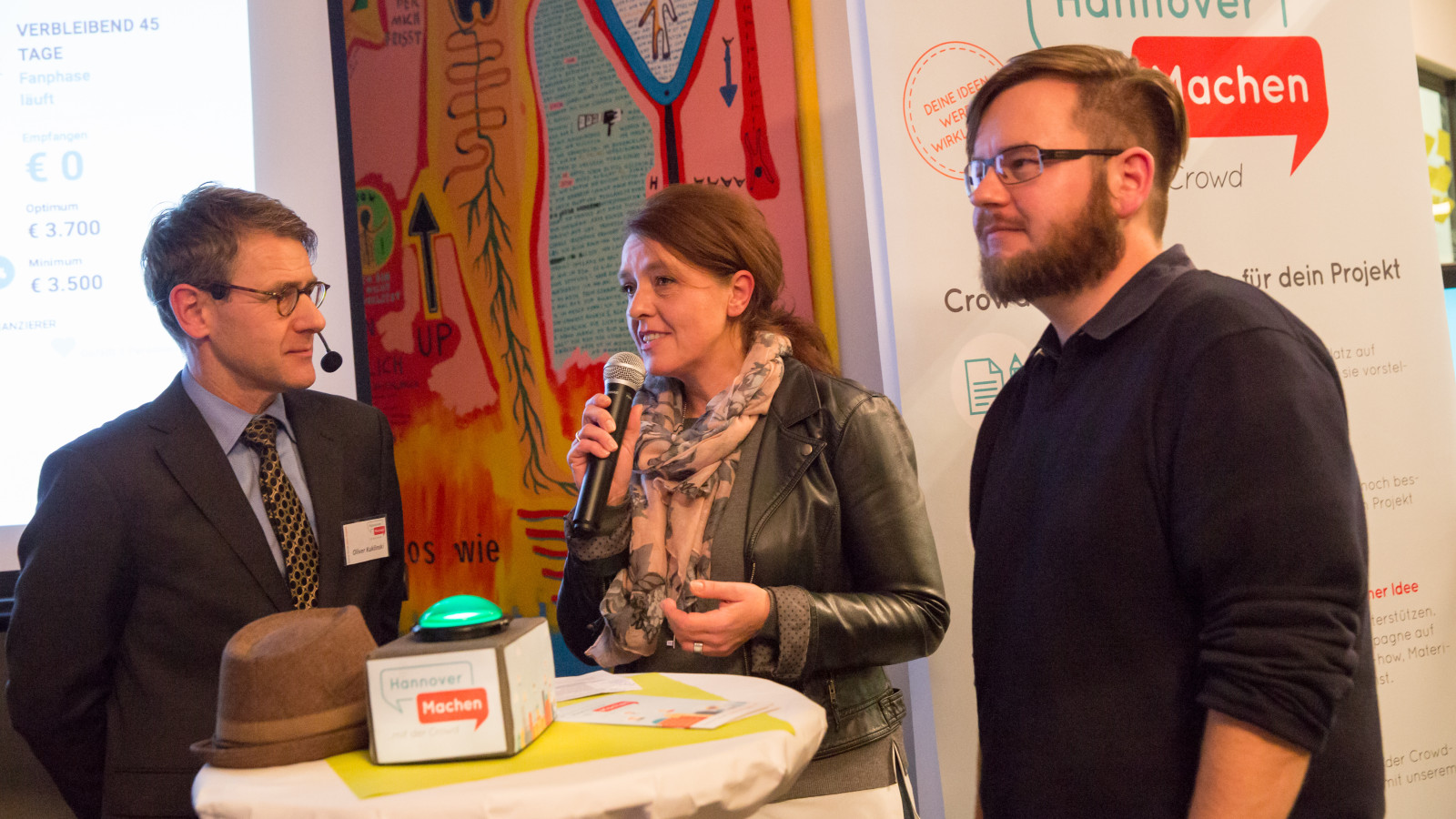 Hannover, 21.11.2016: Start der gemeinnützigen Crowdfundingplattform HannoverMachen Foto: Michael Wallmüller